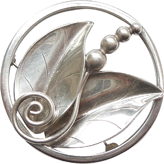 Alphonse LaPaglia Designed International Sterling Silver #207 Leaf & Berry Pin