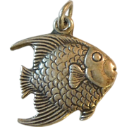 Vintage Sterling Silver Fish Charm - Angelfish