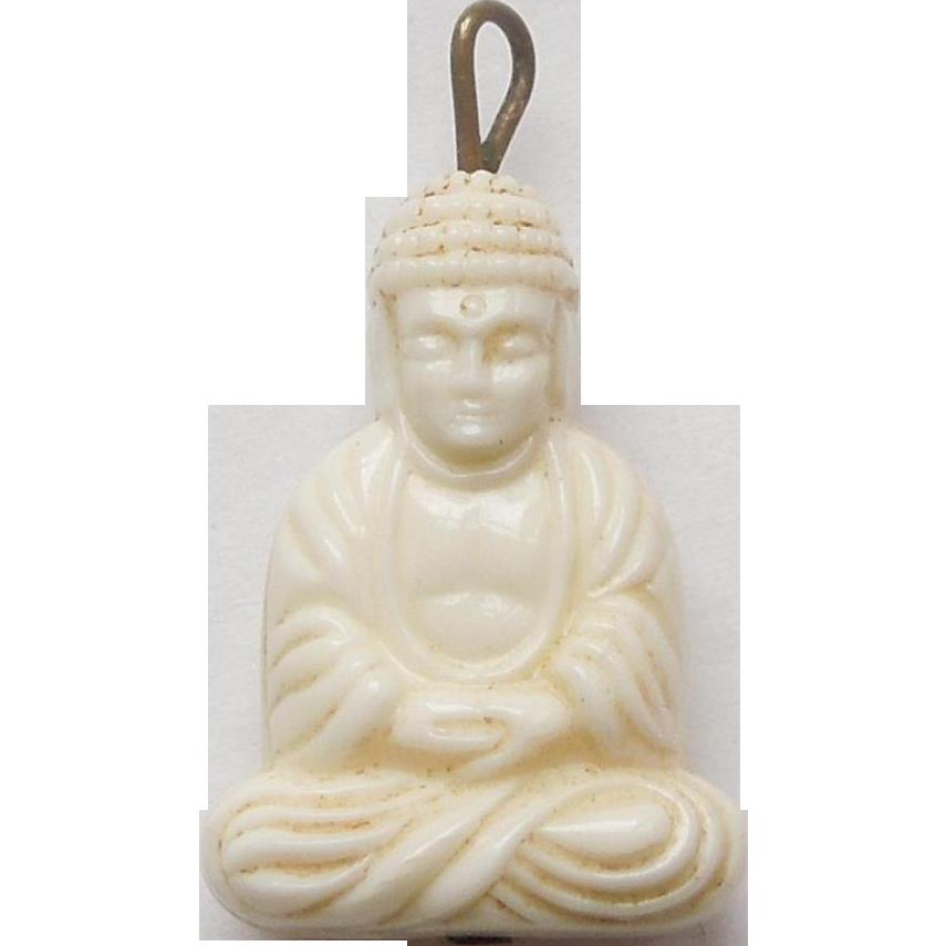 Vintage faux ivory buddha charm from the big o on ruby lane vintage faux ivory buddha charm mozeypictures Choice Image