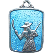 Meka Denmark Sterling Silver Caribbean Island Charm - Man with a Cane Knife