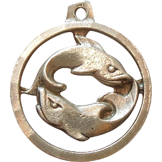 Pisces Sterling Silver Zodiac Charm - Anson