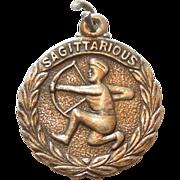 Vintage Sterling Silver Sagittarius 'The Archer' Zodiac Charm with Laurel Wreath (Sagittarious)