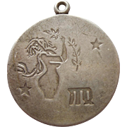 Sterling Silver Virgo - the Maiden - Zodiac Charm or Pendant - Charles Thomae