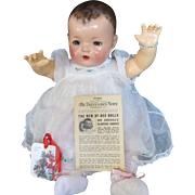 "Vintage ""RARE"" Effanbee Dy-Dee Doll 1934 Patsytown News Paper"