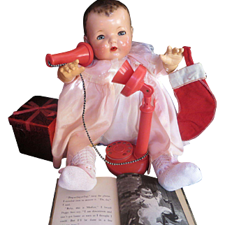 """Vintage Effanbee Dy-Dee Doll RED Phone for your 20"""" Doll"""