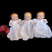 "Vintage baby buttercup "" TRIPLETS"" horsman  Doll's 12"" Composition RESTORED"