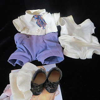Vintage American Character Petite Puggy doll Original clothes & RARE Original Leather shoes