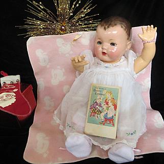 Vintage Effanbee Dy-Dee Doll Esmond Duckie Blanket with Esmond Book