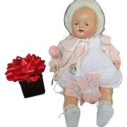 "Vintage ""RARE HUGE"" Madame Hendren doll 25"" Composition Doll- 1918-1925- PARTIALLY RESTORED"