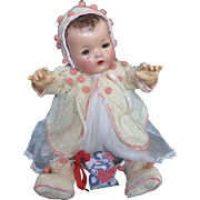 Vintage Effanbee Dy-Dee Doll Lou Sweater, Bonnet & matching Booties