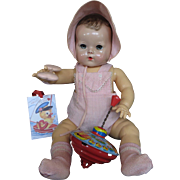 "Vintage ""RARE"" Effanbee Dy-Dee Doll Lou Original Sun Suit & matching Bonnet for your 20"" Doll"