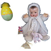 """Vintage Effanbee ANGORA Dy-Dee Doll Lou Sweater, bonnet & matching Booties for your 20"""" Doll"""