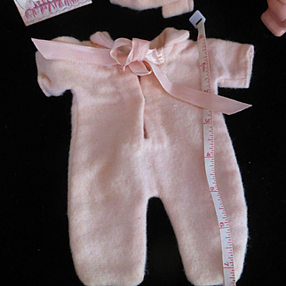 "Vintage Dy-Dee Doll ""MINT"" snow suit & bonnet for"" MAYBE FOR"" Effanbee Babyette or Effanbee Dy-Dee Wee"" PLEASE MEASURE"" Your Doll"