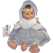 """Vintage Effanbee Dy-Dee Doll Lou Felt Bunny Shoes, Easter Bib, Mittens & Diaper Clasp's with medal for your 20"""" Doll"""