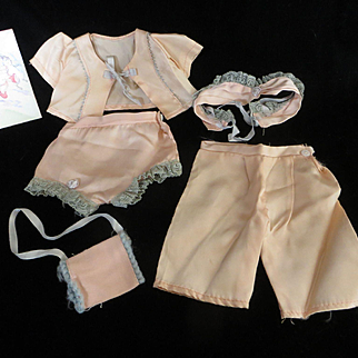 "Vintage"" VERY RARE"" Effanbee 13"" Candy Kid Satin Day Set"