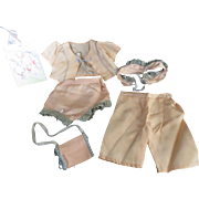 """Vintage"""" VERY RARE"""" Effanbee 13"""" Candy Kid Satin Day Set"""