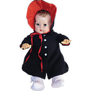 "Vintage GORGEOUS Effanbee Dy-Dee Doll Lou Molly-'es Coat & Bonnet for your 20"" Doll for Easter Sunday"