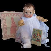 "Vintage""MINT"" ""MINT""""MINT"" Effanbee Dy-Dee Doll  Esmond Bunny Blanket with Esmond Book"