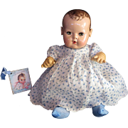"""Vintage Effanbee Dy-Dee Doll Jane Dimity Flowers Mommy Made Dress & Socks for your 15"""" Doll"""