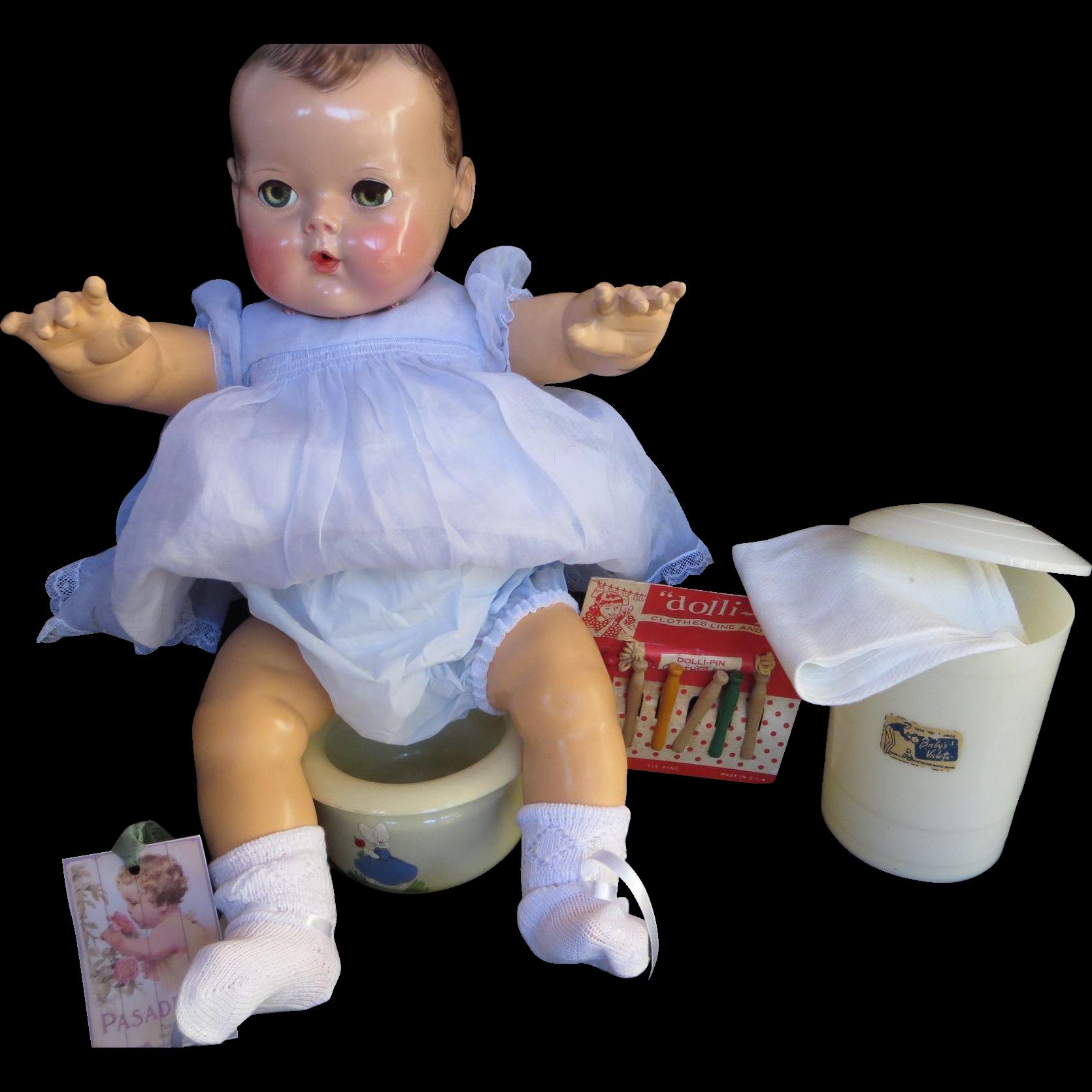 Vintage Toy Potty : Vintage effanbee dy dee doll quot rare diaper pail potty