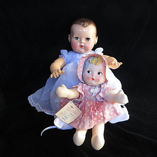 """Vintage Effanbee 1930's """"RARE RARE"""" Pat-o-Pat Cake Doll 14""""- She Still Claps her hands with her Original"""" Sing a long tag""""- Original dress & bonnet"""