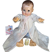 """Vintage Effanbee Dy-Dee Doll Lou """"MINT"""" Layette Gown for your 20"""" Doll & Desitin Powder"""