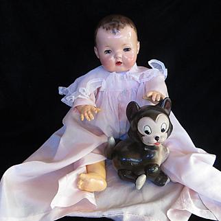 "Vintage ""VERY RARE"" 1930's Disney Figaro Composition Knickerboker Cat Doll"