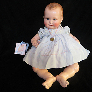 """Vintage  German """"Stunning - GORGEOUS """"1930 Composition Doll 21"""" made in Germany"""