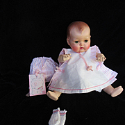"""Vintage""""MINT"""" American Character  Tiny Tears Romper Set for your 15"""" Doll & Knit Booties"""