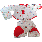 """Vintage """"MINT"""" American Character Tiny Tears Doll Christmas Pajamas for your 13"""" Doll"""