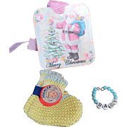 """Vintage Effanbee Dy-Dee Doll or Tiny Tears Bracelet & Booties for your 11"""" Doll"""