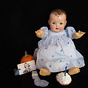 """Vintage""""MINT"""" Effanbee Dy-Dee Lou Doll Birthday Dress & Socks for your 20"""" Doll- Vintage Mommy Made"""