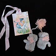 """Vintage Effanbee Dy-Dee Doll mittens for your 11"""" Doll"""