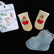 """Vintage Effanbee Dy-Dee doll Christmas Mitten for your 15"""" Doll"""