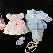 "Vintage Effanbee Dy-Dee Doll Dress Coat & Bonnet & Dolsox for your 11"" Doll"