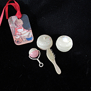 Vintage Effanbee Dy-Dee Doll Celluloid Set with delicate Flowers