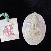 Vintage Effanbee Dy-Dee Doll Nap Time Clock with Rattle for your Nursery