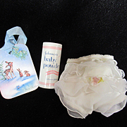 """Vintage Effanbee Dy-Dee Doll Ruffle Rumba Panties & powder for your 11"""" Doll"""