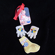 """Vintage Effanbee Dy-Dee Doll Puppy PLUTO Mittens & Dolsox for your 15""""-20"""" Doll"""