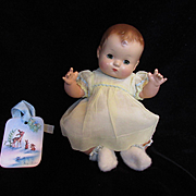 """Vintage"""" BEAUTIFUL"""" Effanbee Patsy Baby Composition Doll 10""""- Near Perfect !!!- With Christmas Bunting !!!"""