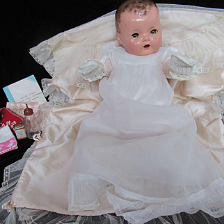 "Vintage""RARE"" Beautiful Effanbee Dy-Dee Doll Lou Mold I with Layette 20"" Doll - 13 Day's till CHRISTMAS !!!"