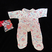 """Vintage Effanbee Dy-Dee Doll Footed Pajamas for your 12"""" Doll"""