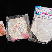 """Vintage""""MINT: Effanbee Dy-Dee Doll Panties & Plastic Pants for your 11""""-15"""" Doll"""