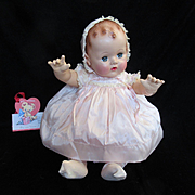 """Vintage"""" MINT"""" Effanbee Dy-Dee Doll Lou Pink Satin Dress & Matching bonnet for your 20"""" Doll"""