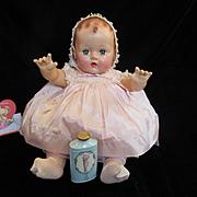 Vintage 1930's Effanbee Dy-Dee Doll Porcelain Cherub Powder Shaker with Valentine Heart's