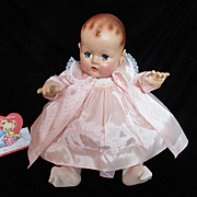 """Vintage Effanbee Dy-Dee Doll Lou Taffeta Coat for your 20"""" Doll- """"NEEDS"""" one stitch on Collar"""