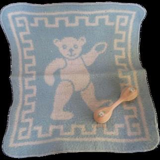 "Vintage""RARE"" Effanbee Dy-Dee Doll Blue Esmond Bear Blanket"