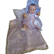 "Vintage ""VERY RARE"" Original Effanbee Dy-Dee Doll Trunk Satin blanket Set for your 15"" Doll"