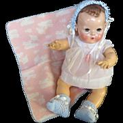 "Vintage ""MINT"" ""RARE"" Effanbee Dy-Doll Lamb Wool Blanket"
