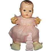 """Vintage Effanbee Dy-Dee Doll  MINT Pink Organdy Dress for your 15"""" Doll"""